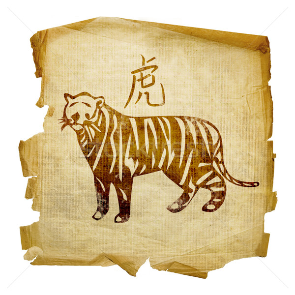 Tiger Zodiac icon, isolated on white background. Stock photo © zeffss