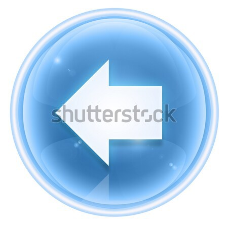 Arrow left icon ice, isolated on white background. Stock photo © zeffss
