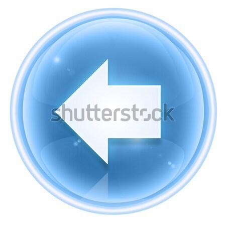 Stockfoto: Pijl · icon · ijs · geïsoleerd · witte · toetsenbord