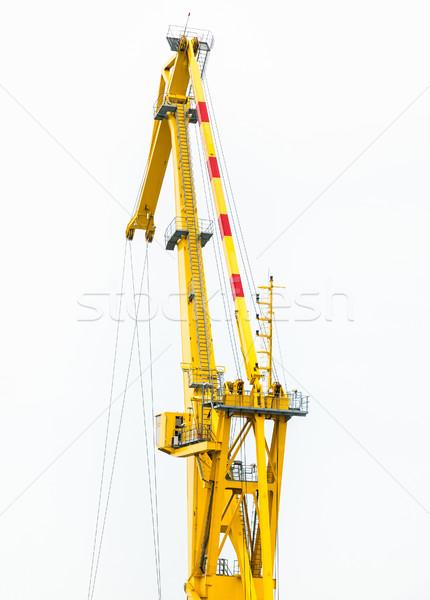 Fragment kraan bouw brug water Stockfoto © zeffss