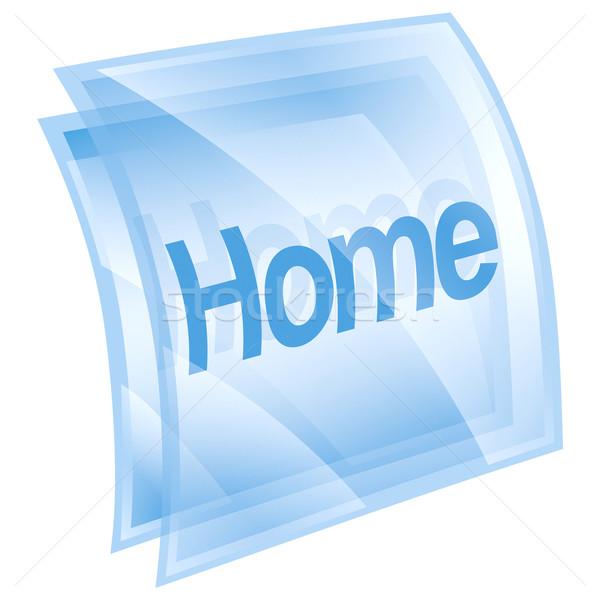 Stock fotó: Otthon · ikon · jég · izolált · fehér · számítógép