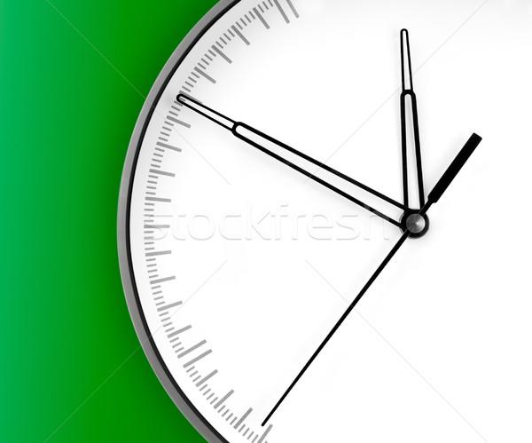 Parede relógio isolado verde mão fundo Foto stock © zeffss