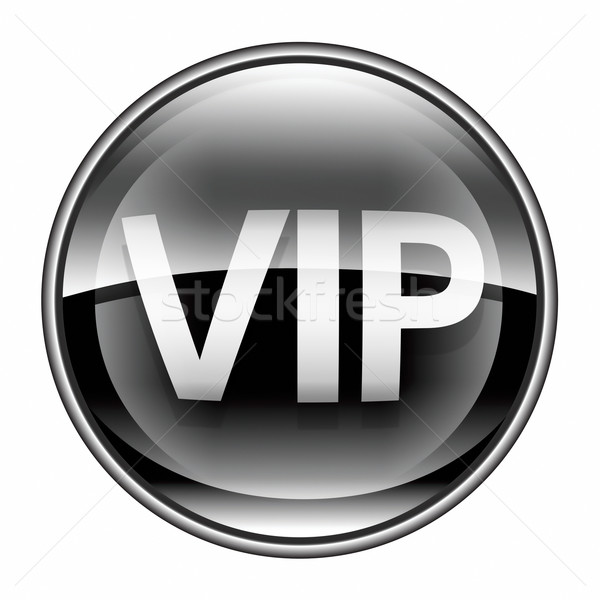 VIP icon black, isolated on white background. Stock photo © zeffss