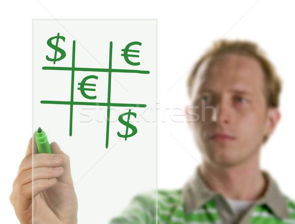 Stockfoto: Tekening · grafiek · business · kantoor · potlood · financieren