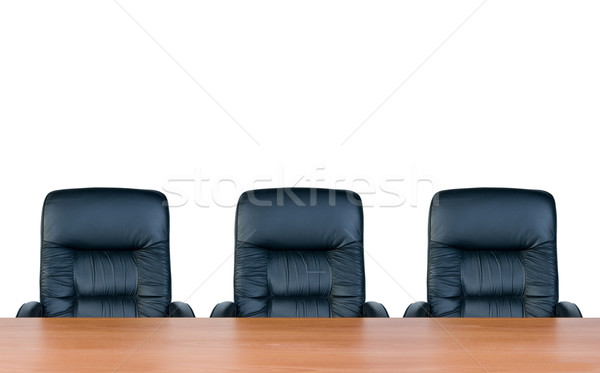 Three armchairs and table Stock photo © zeffss