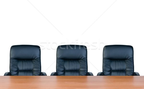 Trzy tabeli odizolowany biały biuro pokój Zdjęcia stock © zeffss