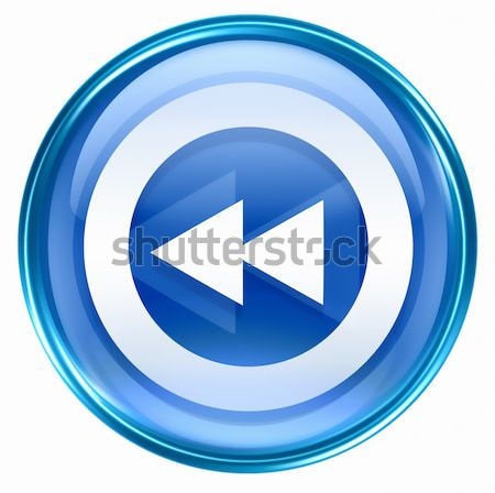 Forward icon blue, isolated on white background. Stock photo © zeffss