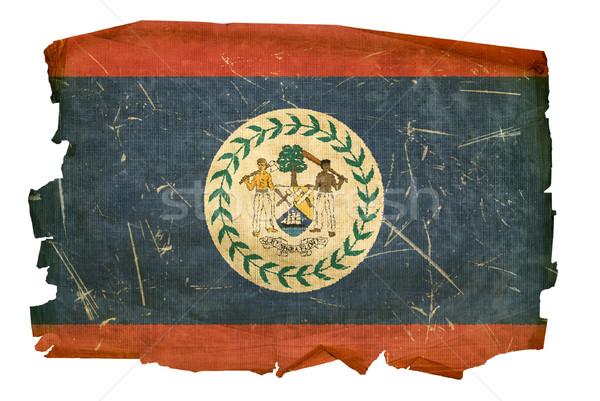 Belize zászló öreg izolált fehér festmény Stock fotó © zeffss