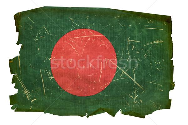 Bangladesh bandeira velho isolado branco pintura Foto stock © zeffss