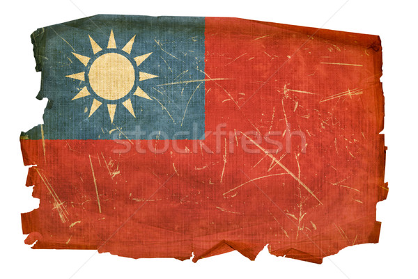 Taiwan Flag old, isolated on white background. Stock photo © zeffss