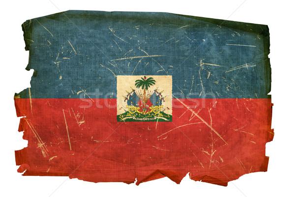 Haiti bandeira velho isolado branco retro Foto stock © zeffss