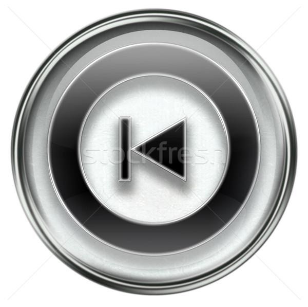 Rewind Back icon grey Stock photo © zeffss