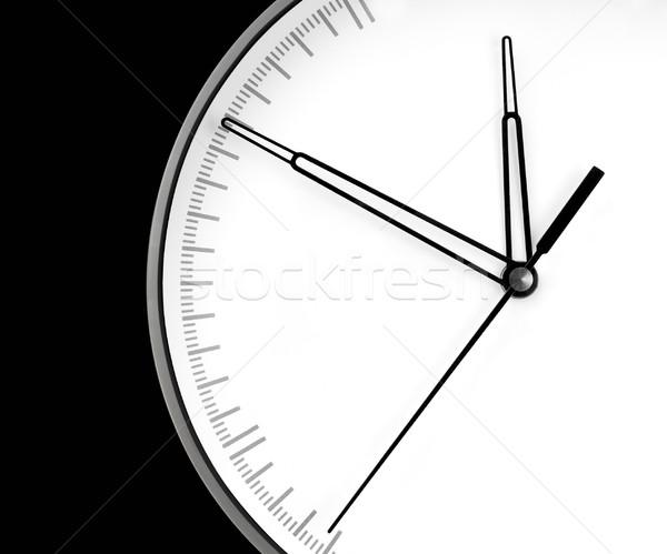 Parede relógio isolado preto escritório mão Foto stock © zeffss