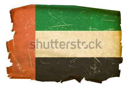 Мальдивы флаг старые изолированный белый Живопись Сток-фото © zeffss