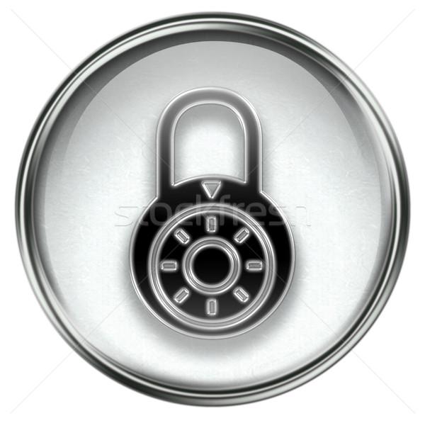 Lock off, icon grey Stock photo © zeffss