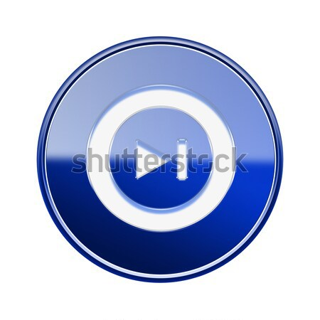Rewind Forward icon glossy blue, isolated on white background Stock photo © zeffss