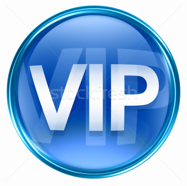 VIP icon blue, isolated on white background. Stock photo © zeffss