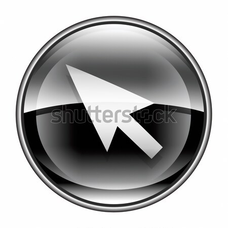 cursor icon black, isolated on white background Stock photo © zeffss