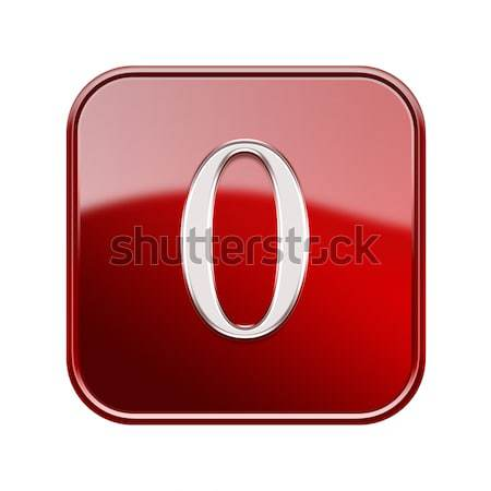 Number null red glossy, isolated on white background Stock photo © zeffss