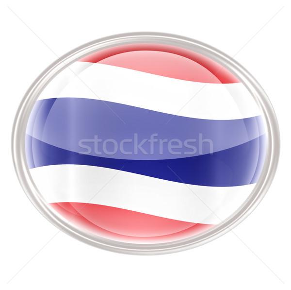 Thailand Flag icon, isolated on white background Stock photo © zeffss