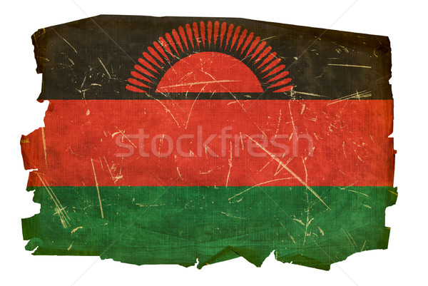 Malawi Flag old, isolated on white background Stock photo © zeffss