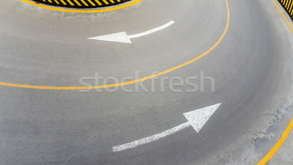 Road marking, arrow signs Stock photo © zeffss
