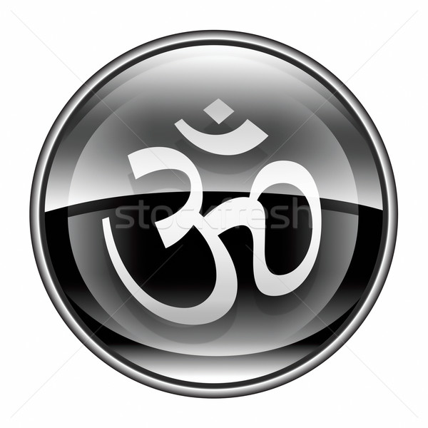 Om Symbol icon black, isolated on white background. Stock photo © zeffss