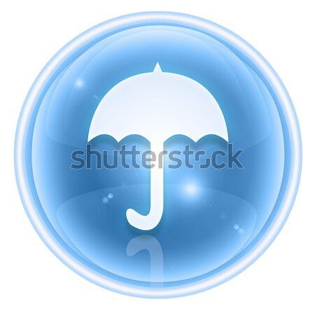 Umbrella icon green, isolated on white background Stock photo © zeffss