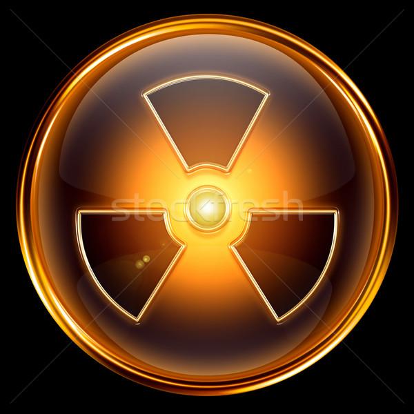放射性 アイコン 孤立した 黒 デザイン ストックフォト © zeffss
