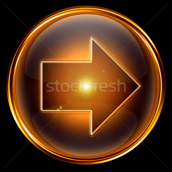 Arrow right icon golden. Stock photo © zeffss