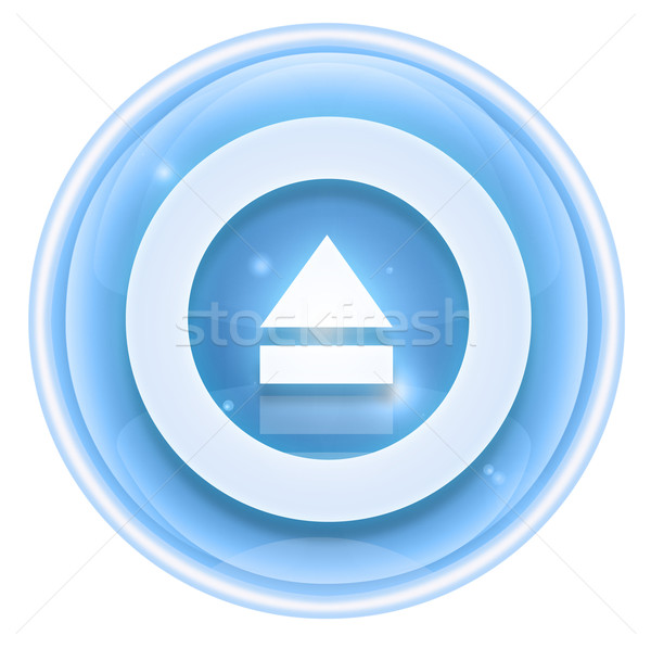 Eject icon ice, isolated on white background. Stock photo © zeffss