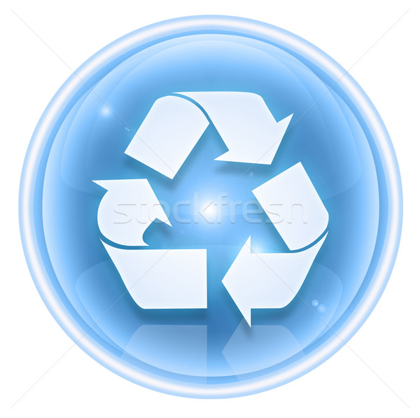 Recycling symbol icon ice, isolated on white background. Stock photo © zeffss