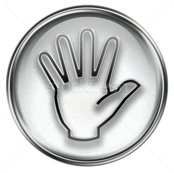 hand icon grey Stock photo © zeffss