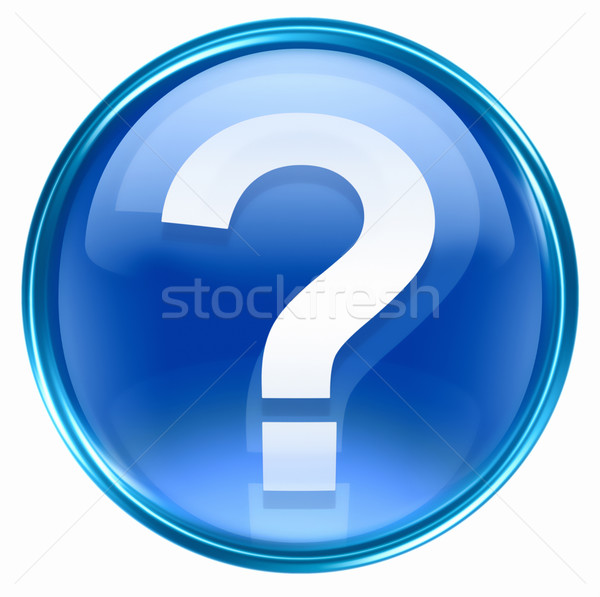 question symbol icon blue, isolated on white background Stock photo © zeffss