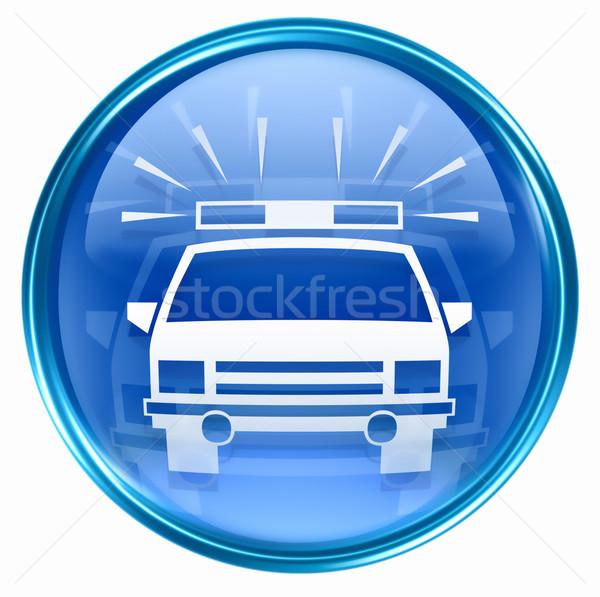police icon blue, isolated on white background. Stock photo © zeffss