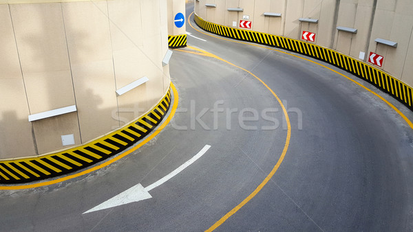 Bejárat földalatti parkolás textúra festék utazás Stock fotó © zeffss