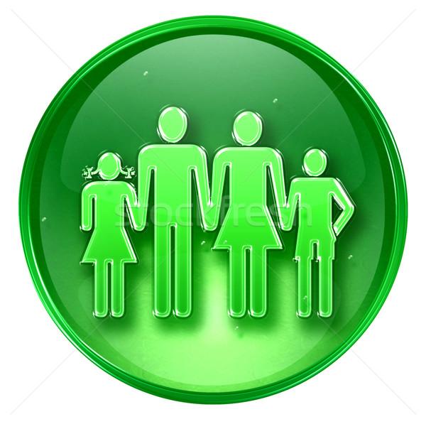 family icon green, isolated on white background. Stock photo © zeffss