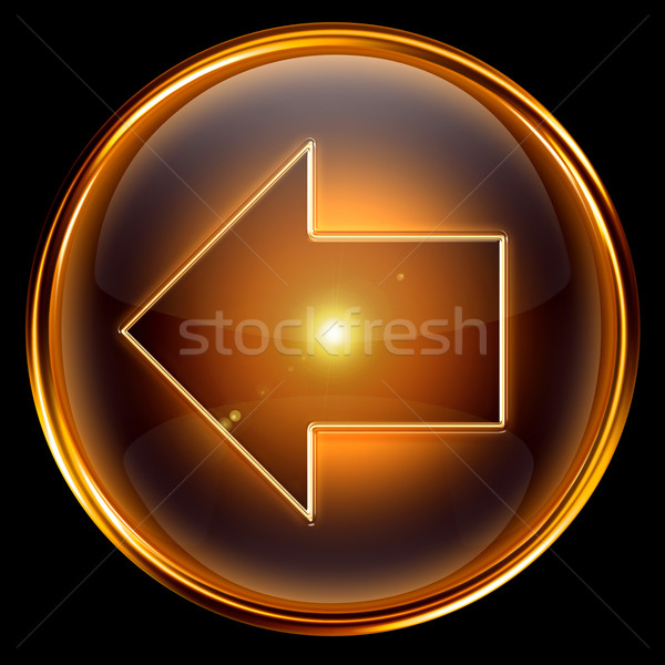 Arrow left icon golden. Stock photo © zeffss