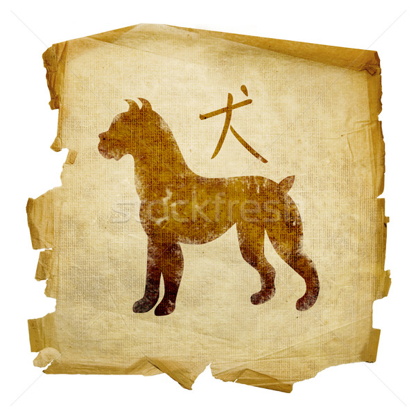 Dog Zodiac icon, isolated on white background. Stock photo © zeffss