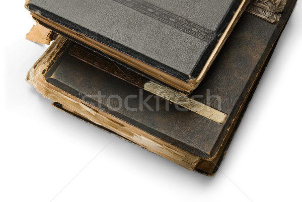 old book with an engraving, isolated on white background Stock photo © zeffss