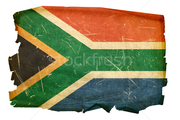 South Africa Flag old, isolated on white background Stock photo © zeffss