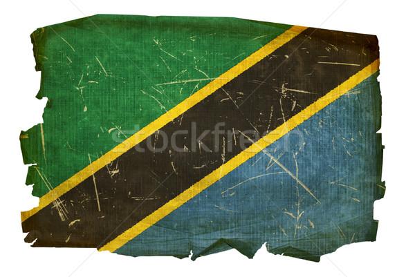 Tanzânia bandeira velho isolado branco pintura Foto stock © zeffss