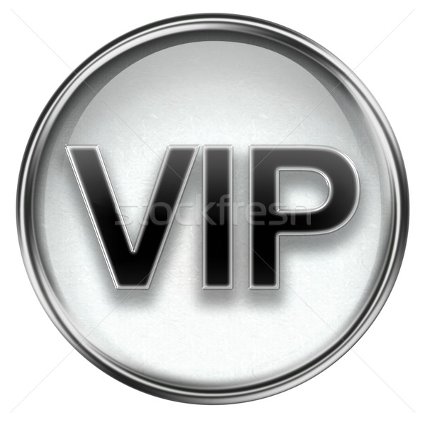 Vip icono gris aislado blanco negocios Foto stock © zeffss