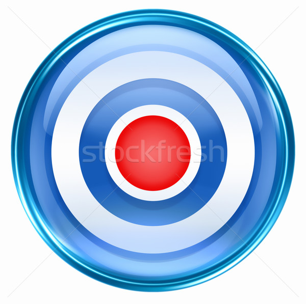 Record icon blue, isolated on white background. Stock photo © zeffss