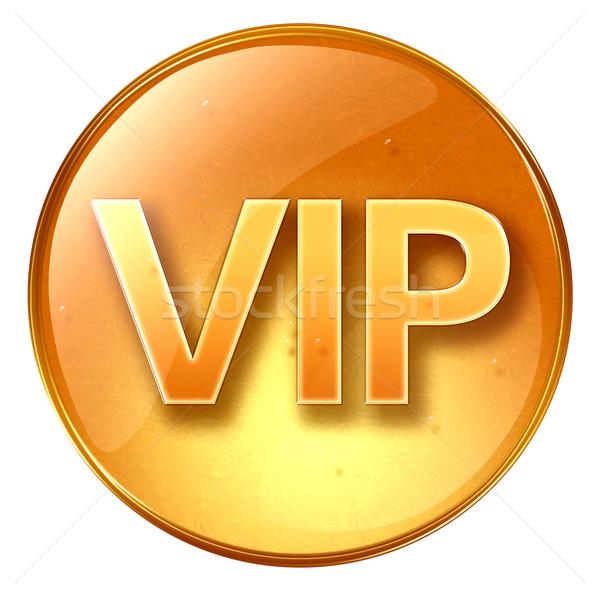 VIP icon yellow, isolated on white background. Stock photo © zeffss