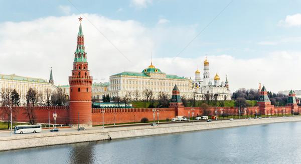 Москва Кремль воды город стены пейзаж Сток-фото © zeffss