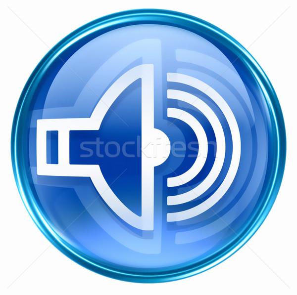 Orador icono azul aislado blanco música Foto stock © zeffss