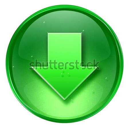 Download icon black, isolated on white background.  Stock photo © zeffss
