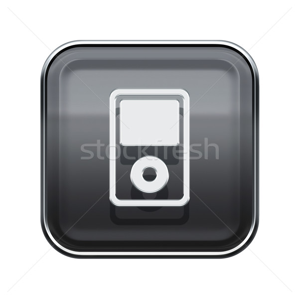 mp3 player glossy grey, isolated on white background Stock photo © zeffss