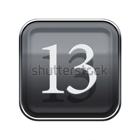 Number three grey glossy, isolated on white background Stock photo © zeffss
